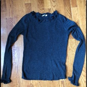 GAP Ruffle Trimmed Ribbed Sweater